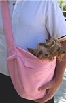 Susan Lanci Designs Cuddle Carrier Puppy Pink