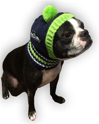 Seahawks cup 2 hip doggie nfl knit pet hat seahawks