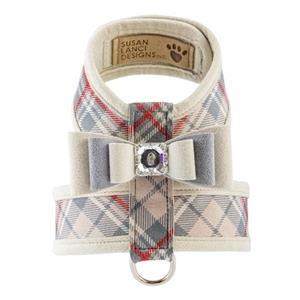 ScottyTinkieHarnessDoePlaid susan lanci scotty tinkie harness doe plaid