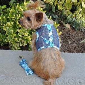 a48a04fdb065 Doggie Design Ukelele Blue Hibiscus Cool Mesh Dog Harness with ...